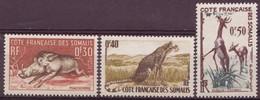 COTE DES SOMALIS N° 287 à 289** Neuf Sans Charniere Faune Phacochere, Guepard, Gazelle - Côte Française Des Somalis (1894-1967)