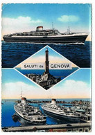 Italie   SALUTI Da  Genova      Bateaux - Paquebots