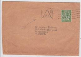 GB -  LETTRE Pour BRADFORD - OBLITERATION MECANIQUE TRIANGLE 184 - 1902-1951 (Rois)