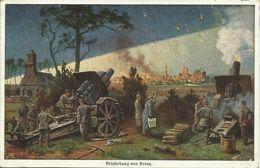 AK / CPA Arras Beschießung Im 1. Weltkrieg Sign. Rösch Color 1916 FP #01 - Arras