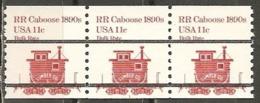 USA. Scott # 1905a, MNH. Coil Strip Of 3 Plate # 1 Precanceled. Transportation 1984 - Coils (Plate Numbers)