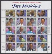!a! USA Sc# 2983-2992 MNH SHEET(20) (a01) - Jazzsingers - Hojas Completas