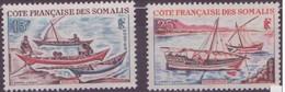 COTE DES SOMALIS  N°320 Et 321** Neuf Sans Charniere   Voiliers Le Houri- Le Sambouk - Côte Française Des Somalis (1894-1967)