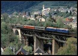 POSTKARTE LOKOMOTIVEN E18 03 E18 047 SONDERZUG IN LUDWIGSSTADT Train Zug Railway Eisenbahn Lokomotive Locomotive Bridge - Eisenbahnen