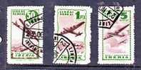 "Spain, 1945 (ish) LINEAS AEREAS, IBERIA, ""SIN VALOR POSTAL"" , 50cts, 1PTA, 5 Pestas, Green, Used. - Poste Aérienne"