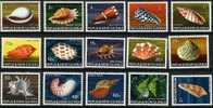 Papouasie Et Nouvelle-Guinée Papoea 1968 1969 Yvertn° 138-52 *** MNH   Cote 55 Euro Coquillages Schelpen - Papouasie-Nouvelle-Guinée