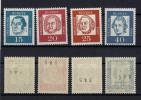 Lot BRD Michel No. 351 - 353 y R + 355 y R Abklatsch ** postfrisch MNH
