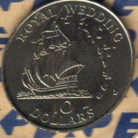 BRITISH CARIBBEAN TERRITORIES $10 ROYAL WEDDING DIANA SHIP FRONT QEII BACK 1981 UNC KM? READ DESCRIPTION CAREFULLY !!! - Coins