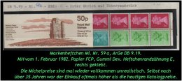 Grossbritannien - Februar 1982, 50 P Markenheftchen Mi. Nr. 59 A, Rechts Geklebt. - Libretti