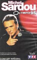 """V-H-S  Michel Sardou  """"  Olympia 95  """" - Concert Et Musique"""