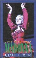 "V-H-S  Madonna  ""  Live From Italy  "" - Concert Et Musique"