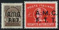 Trieste Zone A EY1-2 Mint Hinged Singles From 1947 - 7. Trieste