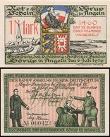 300234 24966 Sörup, Städtenotgeld, Wert 1 Mark, Gründung Schleswig-Holstein Bunde, 1919 - Germany