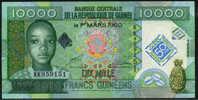 * GUINEA 10000 FRANCS 2010 UNC COMMEMORATIVE  P NEW - Guinea