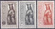 3358# LIECHTENSTEIN Y&T N° 291 à 293 * CLOTURE ANNEE MARIALE VIERGE EN BOIS SCULPTE Cote : 30 Euros - Liechtenstein