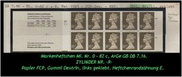 Grossbritannien – März 1981, 1,15 Pfund. Markenheftchen Mi. Nr. 0-82 C, Links Geklebt. Zylindernummer !! - Libretti