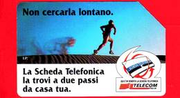 ITALIA - Scheda Telefonica - Telecom - Usata - Non Cercarla Lontano - Corridore - Betanumerica - Golden 615B - Italia