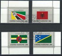 GG-/-065-  ALBANIE, DOMINIQUE, ILES SALOMONS, MOZAMBIQUE - N° 369/72, Obl. Cote 3.40 €, Voir Scan Pour Detail , A SAISIR - New-York - Siège De L'ONU
