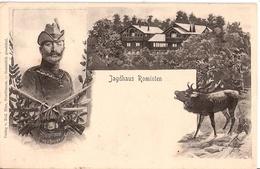 Kaiser Wilhelm II Jagdhaus ROMINTEN Hirsch Krassnolessje Rückseitig Ungeteilte Adreßrückseite Also 1905 Oder Früher Herg - Ostpreussen