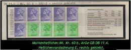 Grossbritannien – Februar 1982, 1.43 Pfund. Markenheftchen Mi. Nr. 0-60 B, Rechts Geklebt. - Libretti