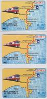 Lot De 3 Cartes Japon - 3 Valeurs TRAIN Narita & AVION Airplane - Eisenbahn Zug & Flugzeug - Japan Keikyu Cards - 642 - Vliegtuigen