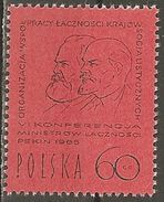 Poland. Scott # 1333 MNH. Conference Of Postal Ministers. Joint Issue Of 1965 - Joint Issues