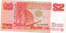 SINGAPORE 2 DOLLARS 1990 P 27 UNC - Singapour