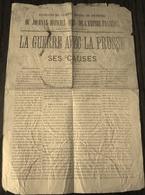 Journal Officiel  La Guerre Avec La Prusse 1870 - Publicités