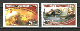 Turkey, 2008 ( 470th Anniv. Of Preveze Naval Victory & Naval Forces Day ), Set Of 2 - MNH (**) - History