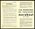 Supplément - Questionnaire  C.I.C.M. N° 21 Du MJ N° 76. . - Marabout Junior