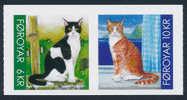 FAROE ISLANDS DENMARK/Dänemark Färöer 2011 CATS Adhesive From Booklet 2v** - Gatti