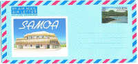 Samoa - 2 Aérogrammes - Shief Post Office - 45 & 60 Sene - Samoa