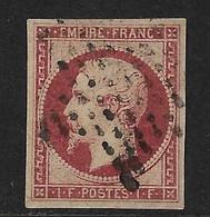 France N° 18 Magnifique D'aspect, Belle Nuance , Restauration Très Discrète,  Cote: 3400€ - 1853-1860 Napoléon III