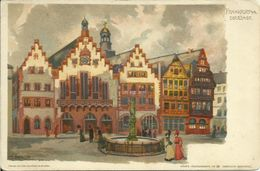 AK Künstler Pfaff Frankfurt Römer Farblitho ~1900 #01 - Künstlerkarten