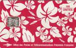 FRENCH POLYNESIA - Pareo Rouge 150 Unites, Chip SC5, CN : C46100842, Tirage %4000, 10/93, Used - Französisch-Polynesien