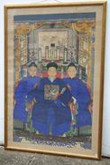 CINA (China): Ancient Chinese Ancestral Family Portrait - Arte Orientale