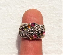 Fine And Vintage Tourmaline Silver 925 Ring - Anelli