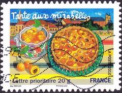 Oblitération Moderne Sur Adhésif De France N°  446 - Saveur Des Régions - Lorraine - Tarte Aux Mirabelles - Fruit - France
