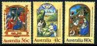 Australia 1989 Christmas Set Of 3, MNH - 1980-89 Elizabeth II