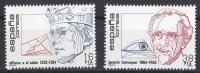 ESPAÑA 1984 - PERSONAJES - ALFONSO X EL SABIO - DR BARRAQUER  - Edifil Nº 2759-60 - Yvert 2373-2374 - Schaken