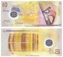MALDIVE - Maldives 10 Rufiyaa 2016 (2015) Polymer - UNC - Maldivas