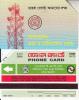 BANGLADESH(Urmet) - Radio Station(reverse B, Thin Band-text On 3 Lines, Tel 760256), Used - Bangladesh