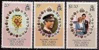 PITCAIRN ISLANDS - MNH ** 1981 Royal Wedding. Scott 206-8 - Pitcairn Islands