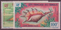 COTE DES SOMALIS N° 31/32**  PAR AVION NEUF SANS CHARNIERE - Côte Française Des Somalis (1894-1967)