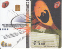 KOSOVO(chip) - PTK First Issue 5 Euro, Chip KOS1, Used - Kosovo