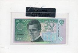 ESTONIA 50 KROONI P 78 1994 UNC IN FOLDER - Estonie