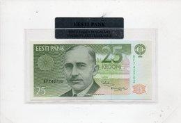 Estonia, 25 Krooni, 1992, P-73, EX-USSR, UNC Pre-Euro IN FOLDER - Estonia