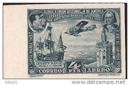 ES591-A187TTOA..Spain.E Spagne.Homenaje A Colon.PRO UNION IBEROAMERICANA .AEREO.1930 (Ed 591ccs**) Nuevo,sin Charnela. - Transporte