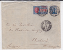 ITALIE - 1911 - LETTRE EXPRES De LIVORNO Pour THALWIL (SUISSE) - AMBULANTS MILANO-VENEZIA + PISA-GENOVA - Affrancature Meccaniche Rosse (EMA)