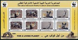 Libya 2008 MiNr. 2916 - 2919 Libyen  WWF Animals Rueppell's Fox M\sh MNH** 14,00 € - Dogs